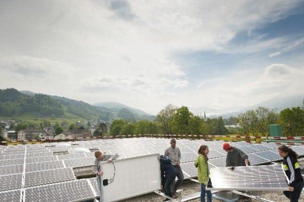 Die Schüler der Oberstufe Wier in Ebnat-Kappel haben unter anderem eine Solaranlage gebaut